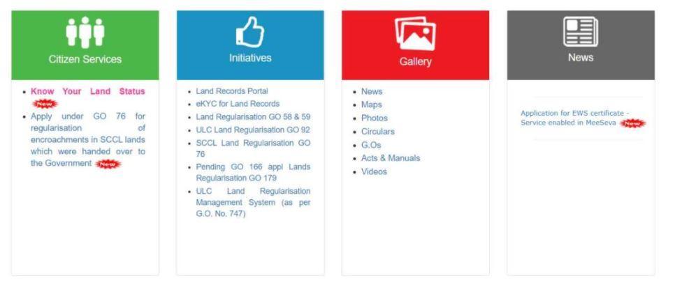 CCLA Webland Telangana Portal