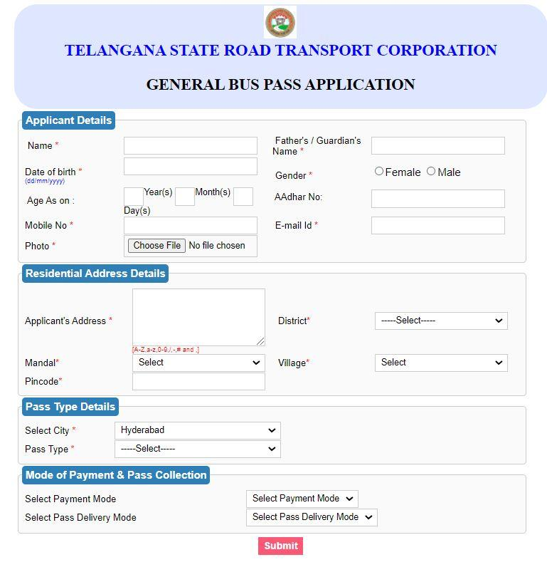 Apply for General Commuter Passes Online