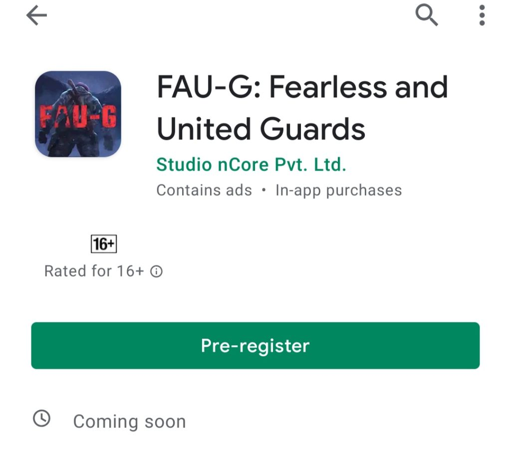 faug game registration kaise kre