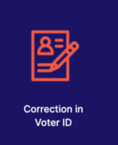 Online voter ID card correction