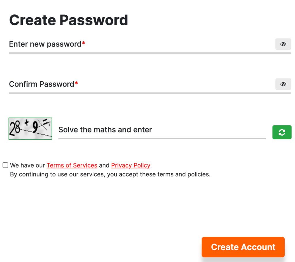 Create password for ECI Voter portal