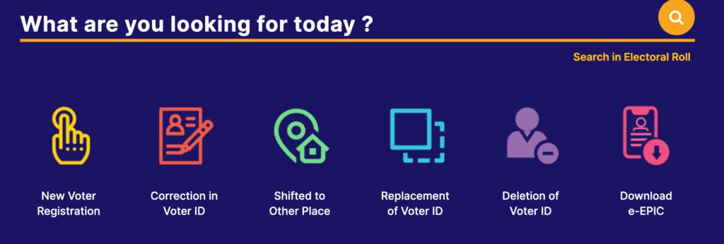 eci voter portal dashboard