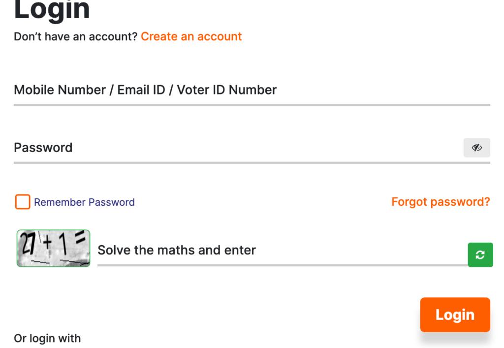 eci voter portal login