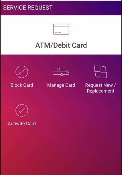 SBI ATM Debit Card on Yono App