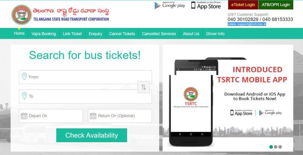TSRTC Bus Booking Online