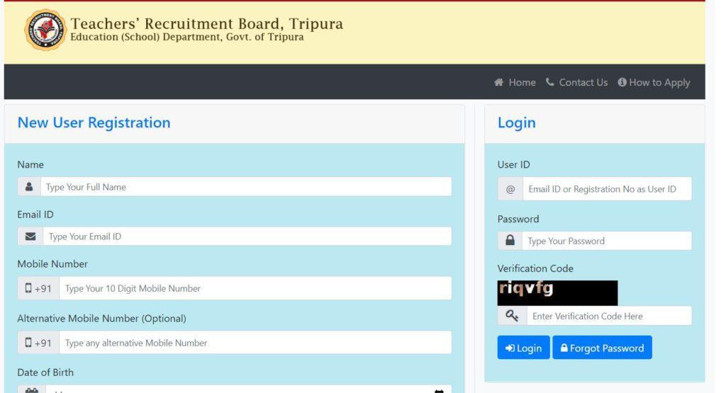Tripura TET 2021 | Official Notification PDF, Apply, Online Registration, Application Form @trbonline.tripura.gov.in