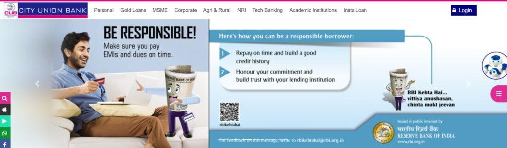 Register for City Union Bank Personal Banking