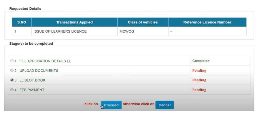 Online Registration Form for Learner's License