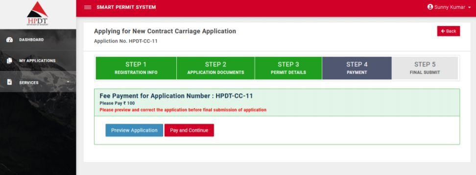 Apply Contract Carriage Permit