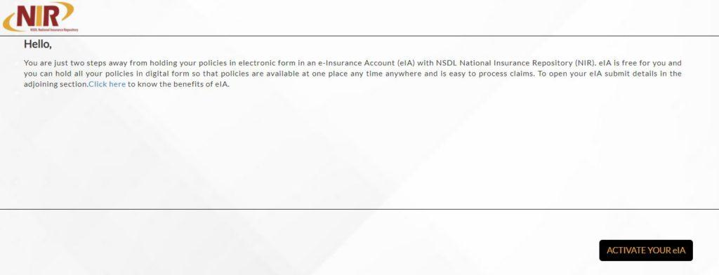 E-insurance account(eia)   How to Apply, Open Account Online, Save existing policies & Download pdf