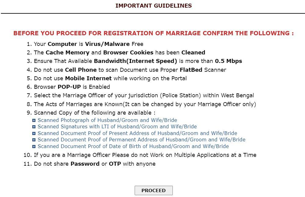 How to Apply for W.B. Marriage Certificate Online @ rgmwb.gov.in