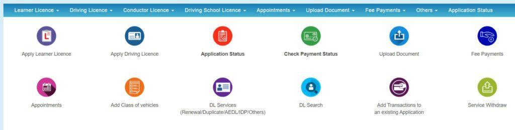 Online Registration Form for Delhi RTO Driving License