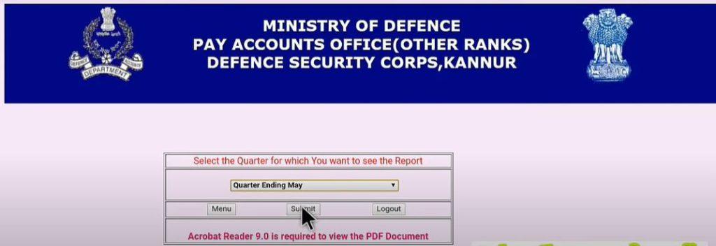 Download DSC Monthly Pay Slips Online @ paoscknr.gov.in