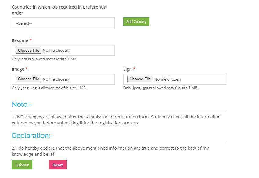 UP NRI Overseas Employment Registration