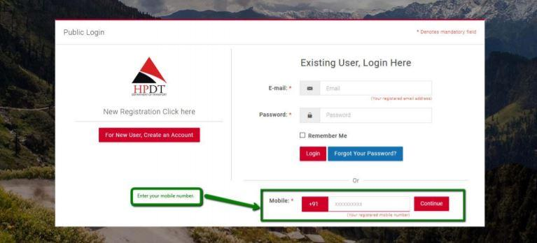 HPDT Portal New User Registration Process
