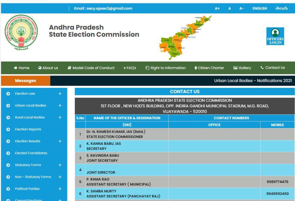 AP State Municipal Elections 2021