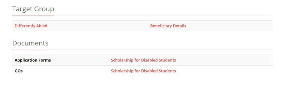 Check Kerala Disability Scholarship Beneficiary Details PDF