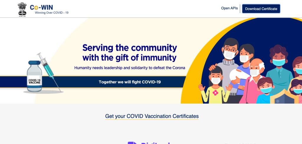 Co Win 2.0 Official Website URL & Mobile App
