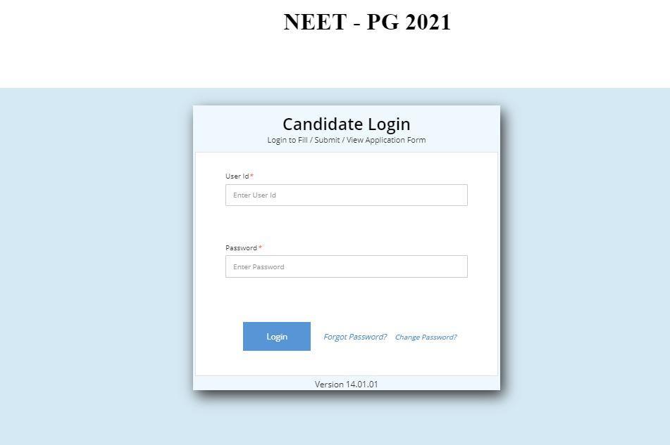 Procedure for NEET Applicant Login