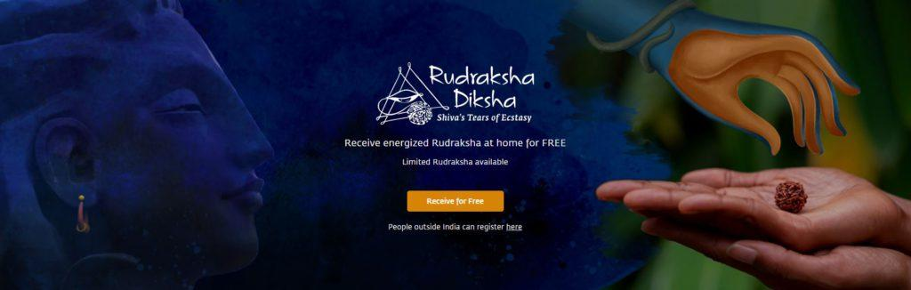 Register Online for the Sadhguru Rudraksha Diksha