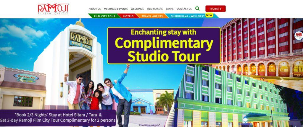 Ramoji Film City Entry Ticket Booking