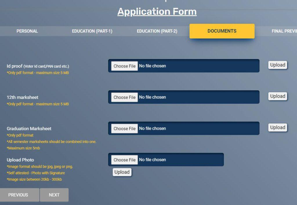 MEA Internship Online Registration Form