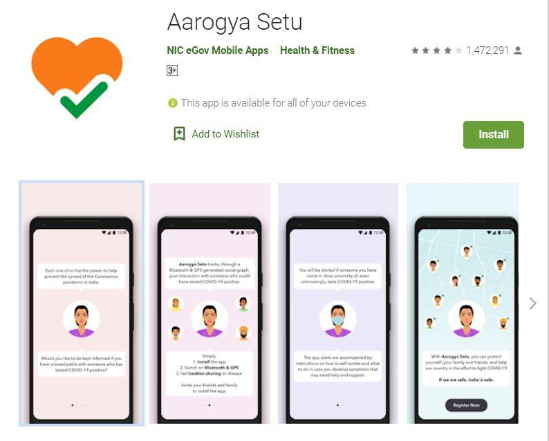 Covid 19 Vaccination Appointment on Arogya Setu App