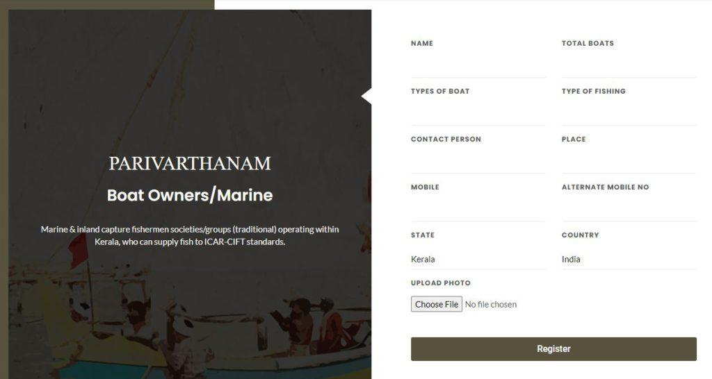 Parivarthanam Registration For Boat Owners/Marine