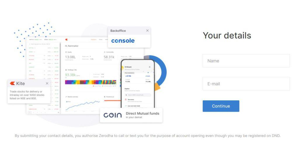 How to Open Trading Account (DEMAT) Online on Zerodha