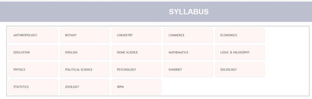 SSB Odisha Lecturer Recruitment Syllabus