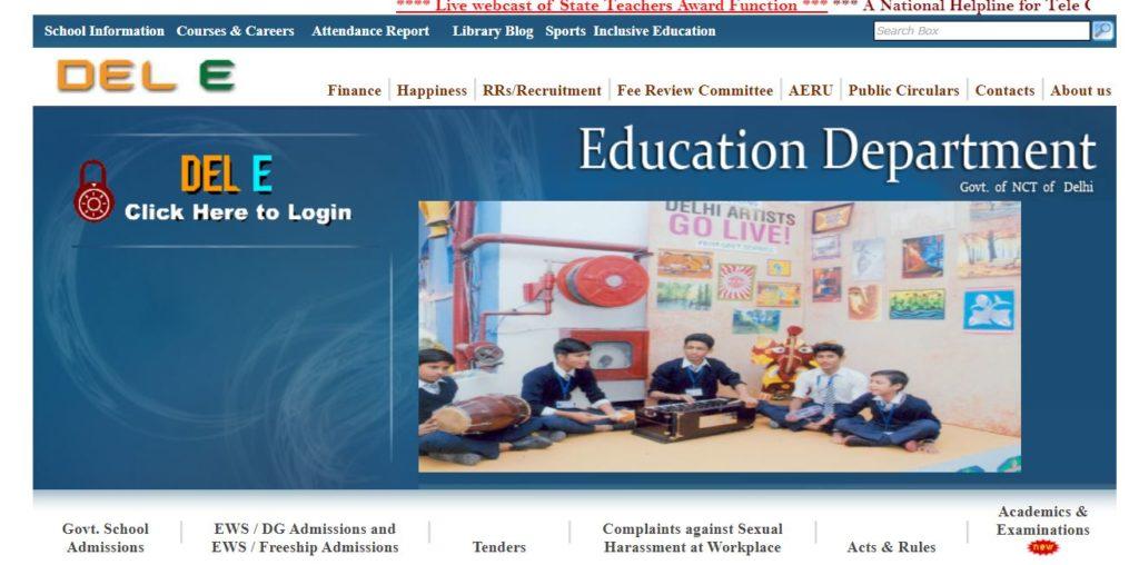 Apply Online for Edudel Delhi EWS/DG Admission