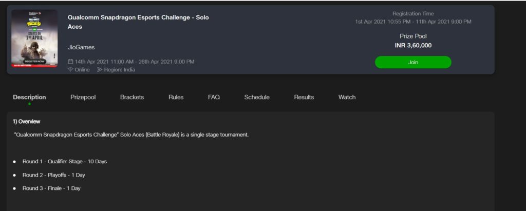 Registration Process for Reliance Jio CODM Esports Tournament