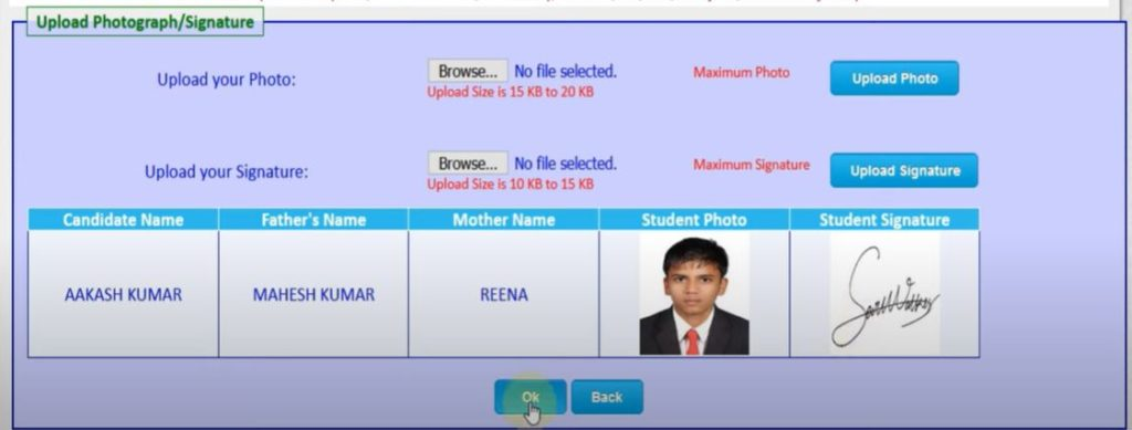 HP TET Online application from