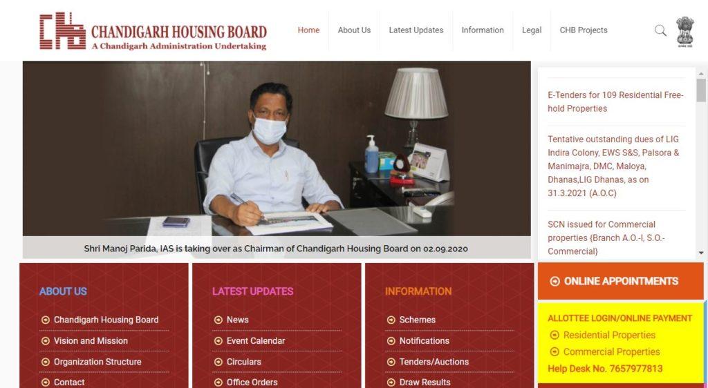 Chandigarh Housing Board Scheme