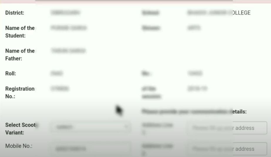 Apply Online for Pragyan Bharti Scooty Scheme