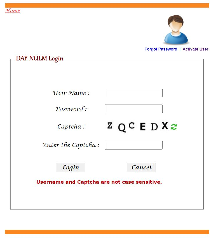 Procedure for DAY-NULM User Login