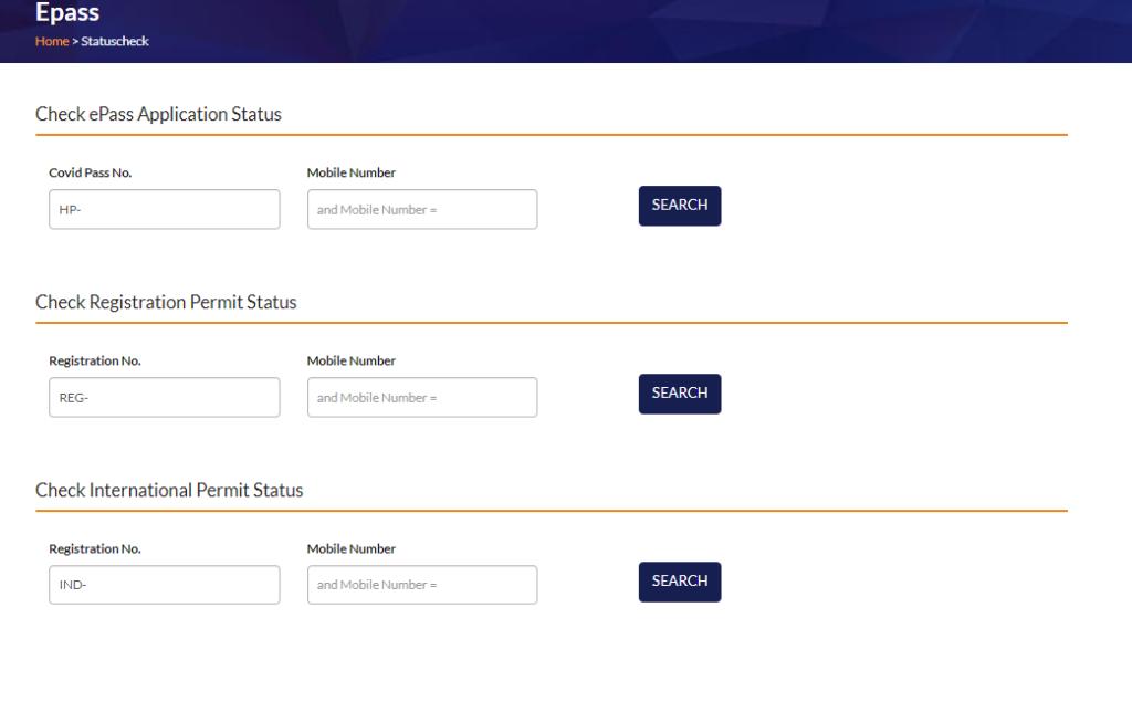 Check HP E-Pass Status Online