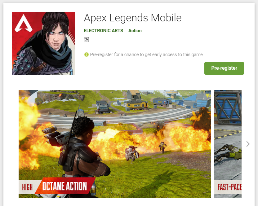 Register Online for APEX Legends Game Online on Android