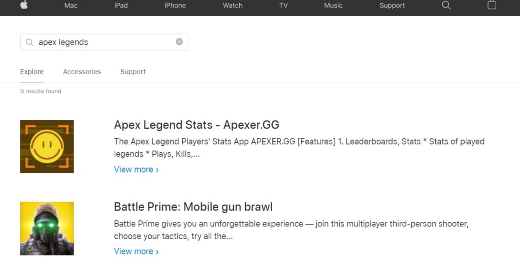 Register Online for APEX Legends Game Online on iOS Mobiles