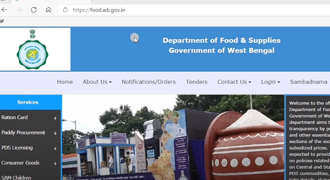 food.wb.gov.in e ration card