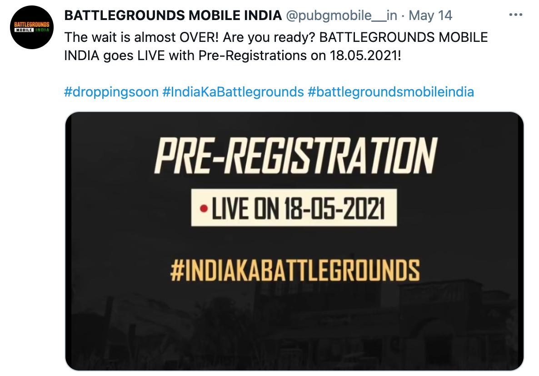PUBG बैटलग्राउंड मोबाइल इंडिया प्री रजिस्ट्रेशन   सीधा लिंक, तिथि, ऑनलाइन आवेदन करें