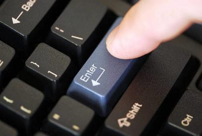 hit enter button