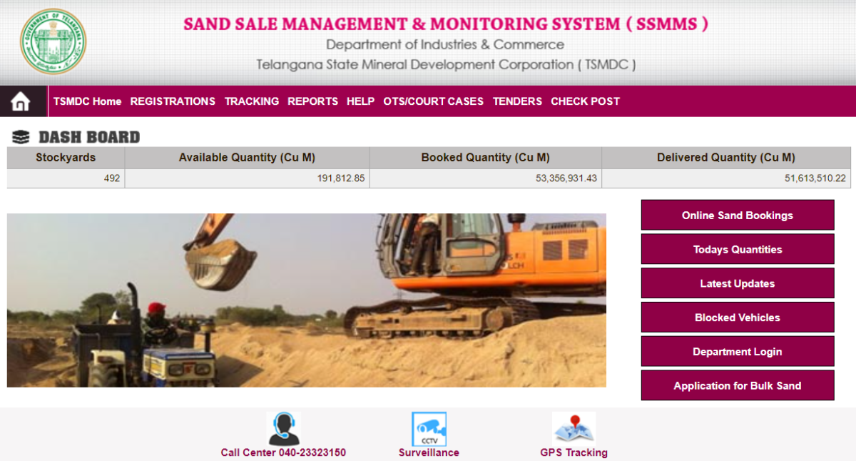 How to Book Sand Online on Telangana SSMMS Portal