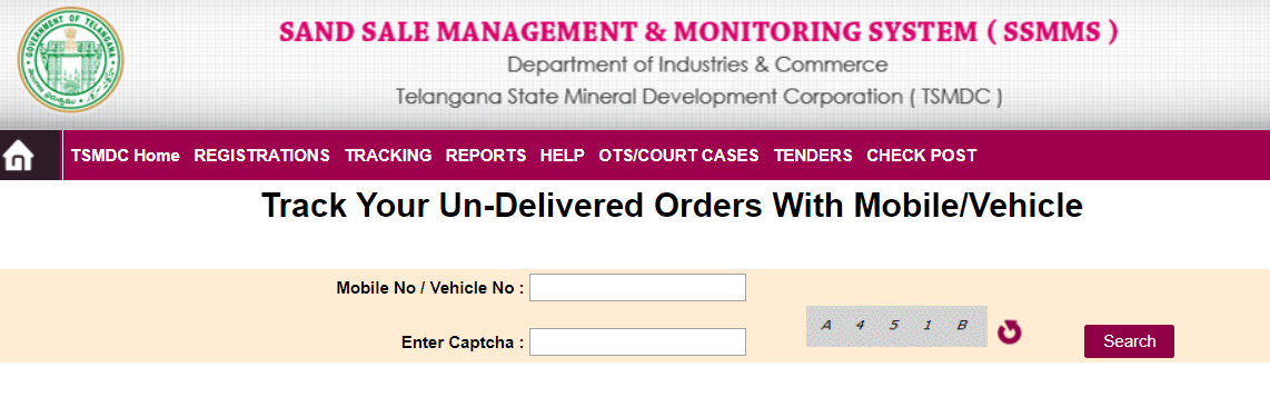 Track your Un-Delivered Orders with Mobile/Vehicle