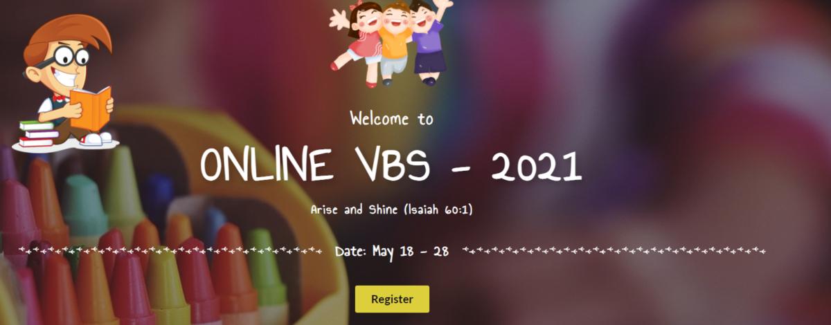 Register Online for the Jesus Redeems VBS