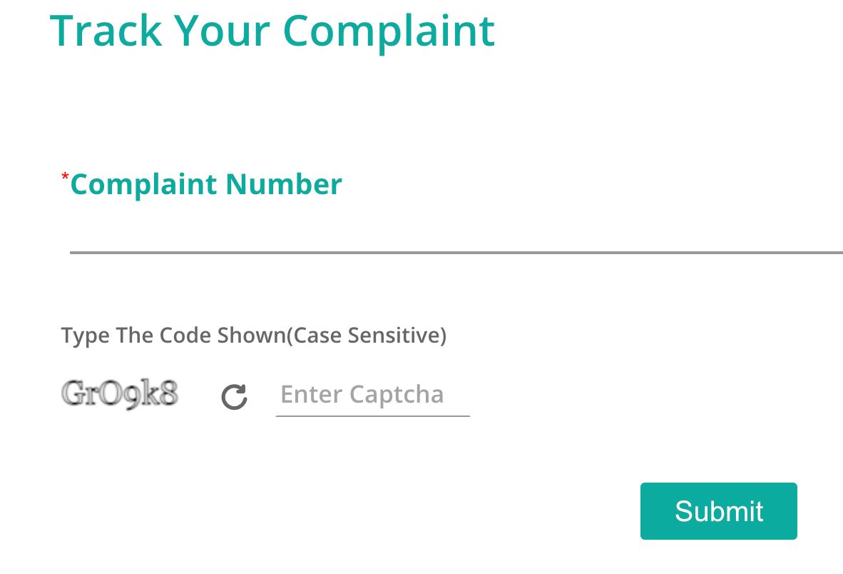 RBI Complaint status check
