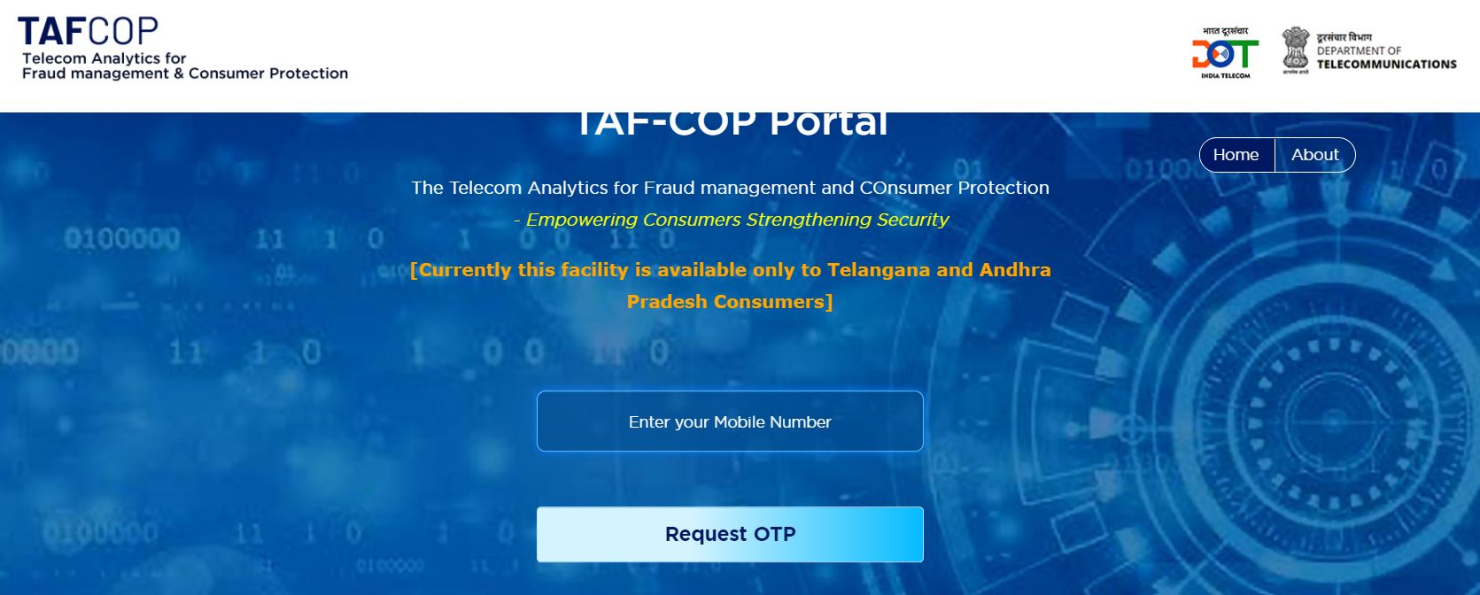 TAF COP Portal   Find Mobile Numbers (SIM Card) on your Name & ID, Report for Blocking