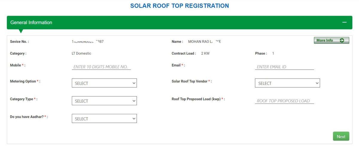 Solar Rooftop Andhra Registration
