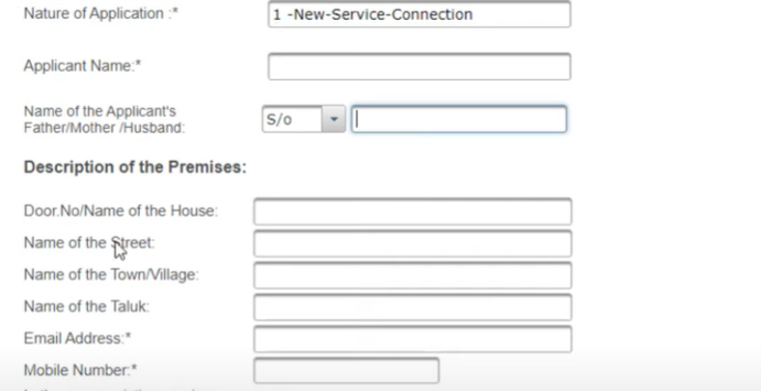 Apply TANGEDCO New Service Connection Online