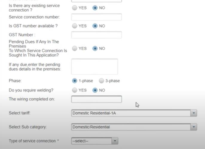 Apply Tamilnadu New Service Connection Online